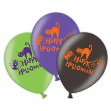 6pk Happy Halloween 4 Sided Helium Latex Balloons 28cm Party Decorations