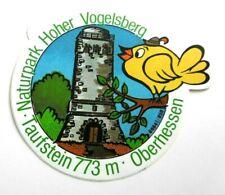Souvenir-Aufkleber Taufstein Naturpark Hoher Vogelsberg Schotten Oberhessen 80er