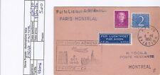 STORIA POSTALE - POSTA AEREA - PA0046 - PRIMO VOLO PARIGI MONTREAL - 5.00€