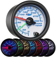52mm GlowShift White 7 Color Dual Intake Temp Intercooler Diesel Gauge GS-W720