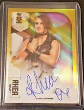2020 Topps Chrome WWE 1st NXT RC Gold Refractor On-Card Auto SP #/50 Rhea Ripley