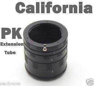 Macro Extension Tube Ring for Pentax PK K Mount Kx Km k7/5 K200D K100D K20D K10D