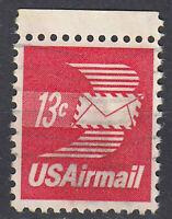 USA Briefmarke gestempelt 13c Airmail Rand oben / 1757