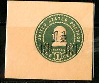 US Stamps # U509b 1c Cut Square JUMBO Mint
