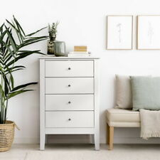 Artiss 4 Chest of Drawers Tallboy Storage Cabinet Bedside Table Dresser White