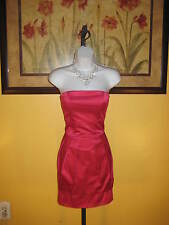 NWT  Arden B. Pink Satin Strapless Dress Size M