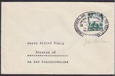 DR Mi Nr. 632 EF Brief mit Marschpost Stempel - Breslau 1936