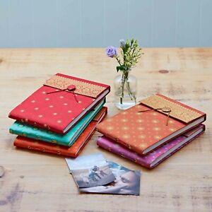 Fair Trade Handmade Medium Copper Sari Photo Album, Scrapbook - 2nd Quality