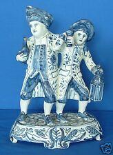 Delft Antique BLUE & WHITE Vicar & Moses c1880 Signed Bloompot Figure Provenance
