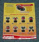 Playskool Transformers / Go-Bots _ Mototron _ Instructions / Card Back
