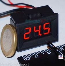 MINI TERMOMETRO DIGITALE da PANNELLO LED ROSSO -30~+70℃ NTC DC auto moto camper