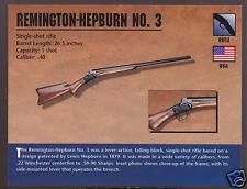 REMINGTON-HEPBURN NO. 3 RIFLE .40 Atlas Classic Firearms Gun PHOTO CARD