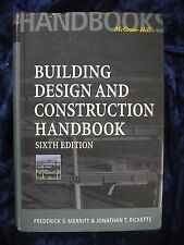 BUILDING DESIGN AND CONSTRUCTION HANDBOOK by MERRIT & RICKETTS  Pub. McGRAW-HILL