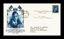 DR JIM STAMPS KING GEORGE VI FIVE CENTS FIRST DAY ISSUE CANADA COVER