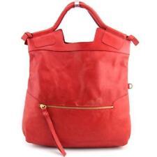 Bolsos de mujer de color principal rojo de piel