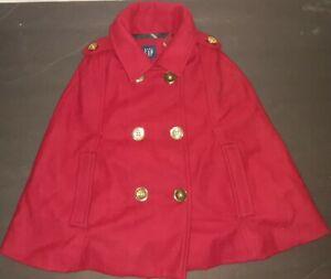 GAP Valentine Red Cape Size 4