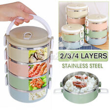 2/3/4 Layers Stainless Steel Thermal Insulated Lunch Box Bento Picnic