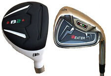 "+1"" Extra Long Steel Stiff Taylor Fit Heater B2 Hybrid Iron combo golf clubs"