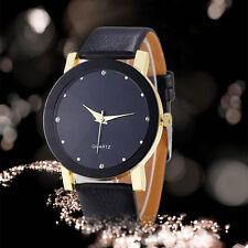 Luxus Einfach Stil Herren Armbanduhren Uhr Leder Mode Business Quarz WristWatch