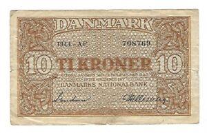 Denmark - 1944, Ten (10) Kroner