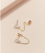 Anthropoplgie Jewelled Chain - Hoop Earings Gold