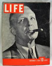LIFE MAGAZINE 7 NOVEMBER 1938 VINTAGE NEWS CURRENT EVENTS & ADVERTISING