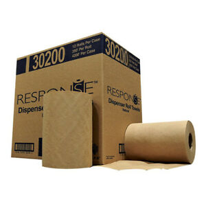 NPS Response 30200 Recycled Natural Hardwound Towel Roll Dispenser (Case of 12)