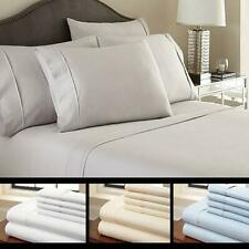 6-Piece Luxury Soft Bamboo BED SHEET SET 2200/90 GSM. RESISTANT TO DUST MITES