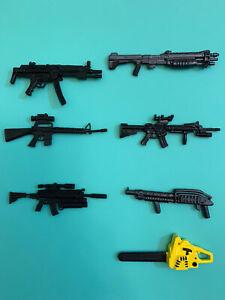"1:12 6"" weapons Cobra GIJoe Classified Marauder Task Force Mtf M16 M4 Mp5 Halo"