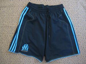 Short Adidas Olympique Marseille OM Noir et ciel Vintage Football Sport - L