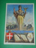 Cartolina Potenza - Scuola Allievi Ufficiali di Complemento di Artiglieria 1930.