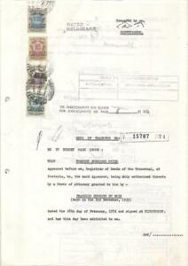 South Africa document revenues 1974 fiscal