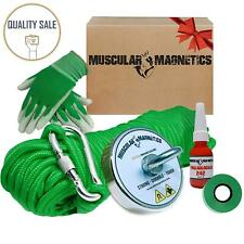 625lb Fishing Magnet Bundle Pack Includes 6mm 100ft High Strength Nylon Rope New