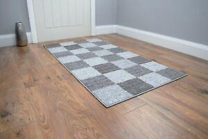 New Grey Kitchen Door Mat Rugs Hallway Runner Non Slip Entrance Large Small UK