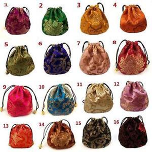 Wholesale 100pcs Chinese Handmade Silk Gift Pouches Purse Jeweler Rolls Gift bag