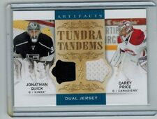 2014-15 UD ARTIFACTS CAREY PRICE & JONATHAN QUICK DUAL JERSEY TUNDRA TANDEMS