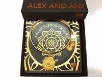 Alex and Ani The Solar Plexus Chakra Bangle Bracelet Shiny Gold NWTBC