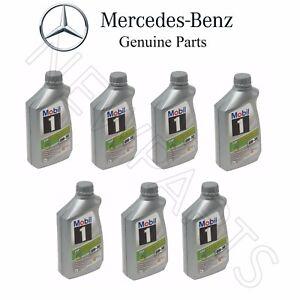 Set of 7 Engine Oils Low Ash MOBIL 1 ESP X1 0W-30 For Mercedes W166 W207 X166