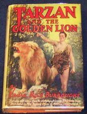 TARZAN & THE GOLDEN LION Edgar Rice Burroughs PHOTOPLAY edition 1928 G&D