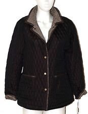 d975f1311560 New Hilary Radley Quilted Reversible Coat Jacket Wool / Poly Brown Check S P
