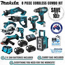Makita DLX8014 18V 3.0Ah Li-Ion Cordless 8 Piece Combo Tool Kit with Carry Bag