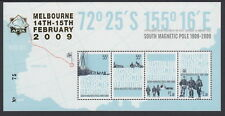 AAT 2009 Discovery South Magnetic Pole Centenary s/sheet overprinted APTA 2009