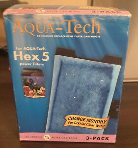 AquaTech HEX 5#5 EZ Change Aquarium Replacement Filter Cartridge 3 Pack