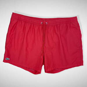 Lacoste Men's Red Beach Shorts Swimmers w/Logo