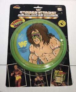 Vintage 1990 WWF Superstars Ultimate Warrior Flying Disc Frisbee- New