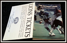 1986 DETROIT LIONS TRIPLE A AAA FOOTBALL POCKET SCHEDULE JAMES JONES ON COVER