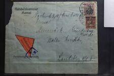 Memel auf Brief als Mischfrankatur per Nachname nach Landsberg #BB078