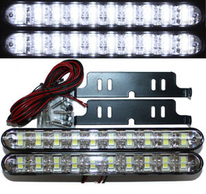LED Tagfahrleuchten 20 SMD BRIGHT E-Prüfzeichen E8 R87 DRL 6000K Xenon weiß