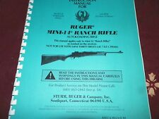 RUGER  MINI 14, RANCH  RIFLE,    47 Pages