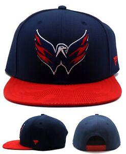 Washington Capitals New Fanatics NHL Emboss Eagle Blue Gray Era Snabpack Hat Cap